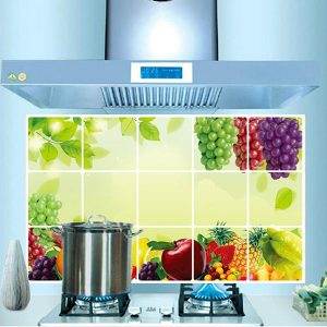 45*70cm Removable Kitchen Fruit Grape Oil-proof Wall Sticker Waterproof Anti-oil Wall Decals Sticker