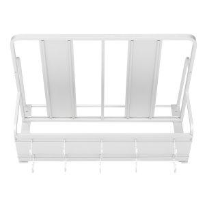 2 Tier Aluminum Microwave Holder Rack Wall Mount Bracket Kitchen Storage Rack Shelf