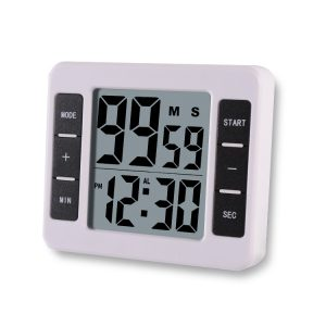 Loskii KC-12 Elektriskt Digital Kitchen Kitchen Timer Multifuntional Cooking Tool Magnetiskt stödstativ med stor LCD-skärmklocka