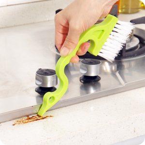 Honana CF-CT20 Handhållna groove Gap rengöringsverktyg Dörrfönster Rengöringsborstar för kök
