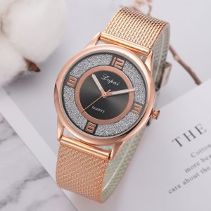 LVPAI P732 Rose Gold Elegant Design Women Wrist Watch