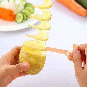 Plastgrönsaksspiralskiva Julienne fräsrulle BlommaHand gurka skivor potatisrullskärare