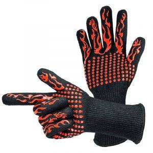 1 st Silikon och bomull högtemperaturbeständig värmebeständig användbar bacon mikrovågsugn handske för matlagning bakning grilla ugnsmytor
