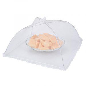 Hopfällbar fluesäker smutsbeständig matsköld Gauze Paraply Matskydd Picknick Kök Anti Fly Myggnät Bord Tält Måltäcke Bord Mesh Matskydd Köksverktyg