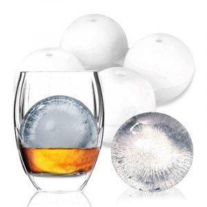 KCASA KC-IM01 4 sfärisk rund silikon isgitter Kub Mögla Tillverkare Bricka Whisky Cocktail Party