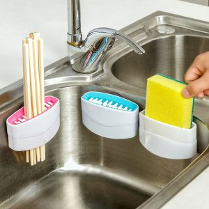 Avtagbar bestick Brush Cleaner Sucker Fork Spoon Cleaner Utensil Sink Scrubber Kitchen Helper