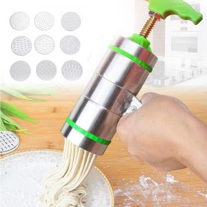 9 Mode Card Stainless Steel Manual Noodle And Pasta Maker Press Spaghetti Kitchen