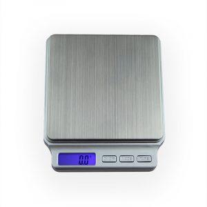 Bärbara mini elektroniska digitala skalor 0,1 g - 2 kg / 3 kg fickfodral Postkök Smycken Viktbalans Digital skala