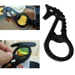 Stainless Steel Sea Horse Multifunctional Portable Pocket Bottle Beer Opener Keychain