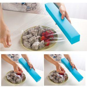 Plastfoliehäftande foliehäftning Filmskärm Förvaring Rullhållare Skärlådshållare Kökskyltar