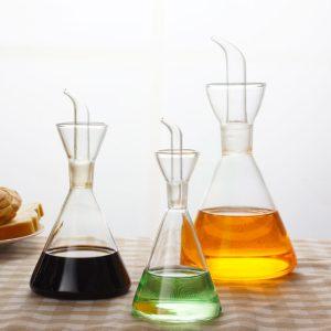 125-500ml Olivolja glas dispenser vinäger hälla flaska kotte flaska kök matlagningsverktyg