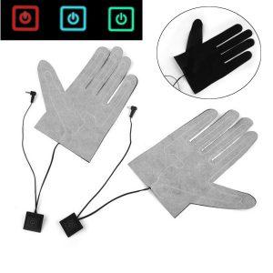 7.4V Ny elektrisk uppvärmningshandske Vintertermiska händer Varma uppvärmda handskar