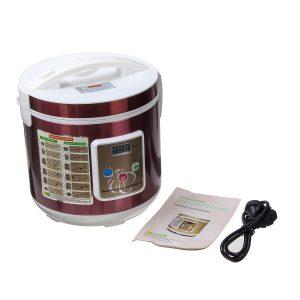 5L-6L 90W svart vitlök Fermenter Ferment Box 360 Stereo Uppvärmning 110V / 220V