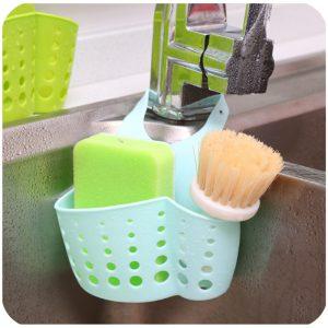 Honana Kitchen Portable Hanging Drain Bag Basket Bath Storage Gadget Tools Sink Holder