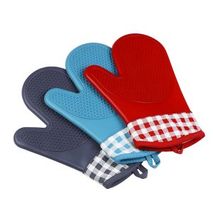 KCASA KC-PG06 1Pcs Silicone Cotton Oven Mitts Microwave Oven BBQ Heat Resistant Pot Holder Gloves