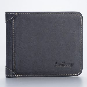 Men 10 Card Slots Artificial Leather Brief Trifold Wallet