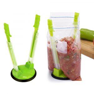 Baggy Bag Rack Sandwich Hand Bag Racks Clip Matlagringsväskor till hållaren Bästa öppnare för frys Vagetable