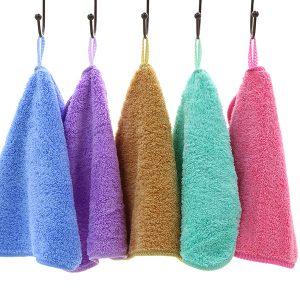 25 * 25 cm Hängande handdukar Coral Velvet Absorberande luddfri duk Baby Barn Torka vattenhanddukar
