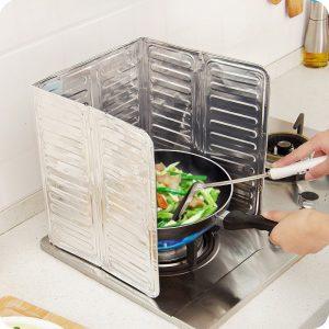Aluminiumfolie oljeblock olje barriär ugn matlagning värmeisolering anti-stänk olja baffel köksredskap leveranser