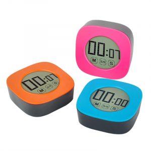 Square LCD Digital Kitchen Timer Mute Adjust Back Stand Countdown Touch Screen Cooking Timer Alarm Clock Kitchen Tools