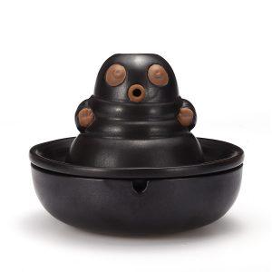 2-i-1 Ashtray Smoke Bud-dha keramiskt bakflöde Konisk rökelse brännare med 10 kottar kök förvaring rack