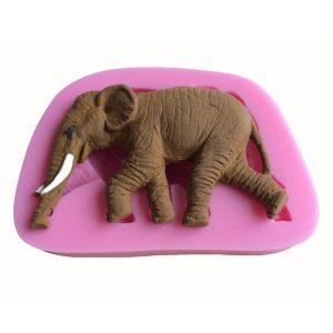 3D Elephant Shape Silicone Cake Fondant Mold Soap Mold Creative Animal Shape Bakning Tools
