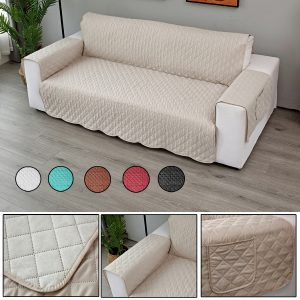 Double Seats Sofa Cover Living Room Home Decoration Polyester Dust-proof Seat Covers