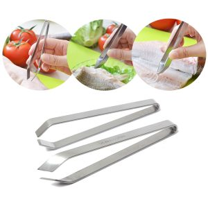 Stainless Steel Fish Bone Remover Pincer Puller Tweezer Tongs Pick Up Tool Craft Home Kitchen Gadget