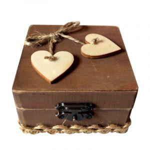 Rustik bröllop personlig ringbärare Box Loving Wedding Gift