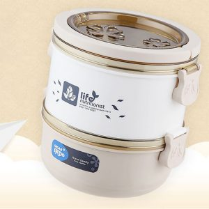 QICAR Lunch Box Thermal Stainless Steel Food Storage Container Leakproof Eco-friendly Bento Box