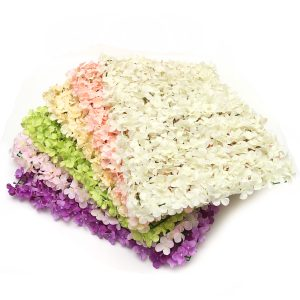 Artificial Flower Hydrangea Wall Panel for Wedding Party Bouquet Home Decorations