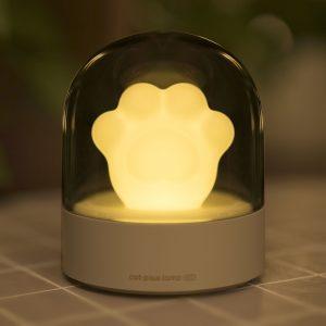 3Life 006 Creative Cat Paw Musical Nightlight USB Charging LED Nightlight Inbyggd musikspelare Fjärrkontroll Sovrum Bordslampor från Xiaomi Youpin