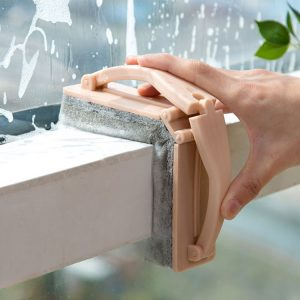 Honana Home Creative Foldable Handle Handheld Sponge Window Bathroom Basin Cleaning Brush