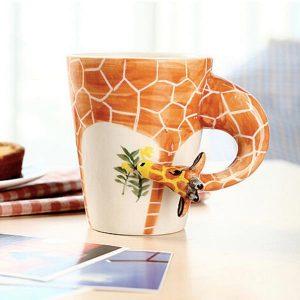 Handgjord 3D djurform kaffe mjölk te mugg keramisk vatten Cup Festival födelsedagspresent