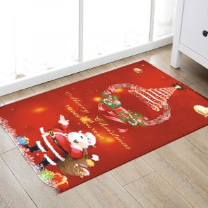 3D jul julgran antislipa kökrum golv matta flanell matta matta