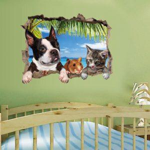 3D-djurlandskap Creative Wall Stickers Home Decor Väggdekor Avtagbara väggdekaler