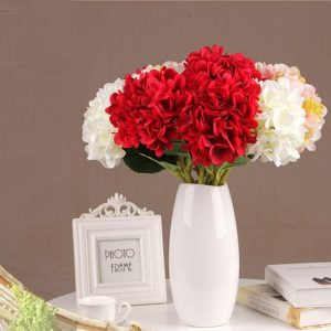 Rose Artificial Silk Peony Flower Hydrangea Bouquet Wedding Party Home Flower Decorations