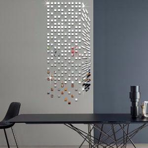 Spegel Mosaik Bakgrund Väggklistermärken Heminredning DIY Kreativt Miljöskydd Väggspegel