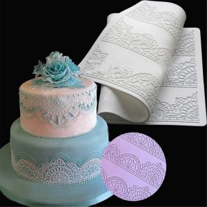 Lace Silicone Mold Sugar Craft Fondant Baking Mat Cake Decorating Baking Kitchen Tools