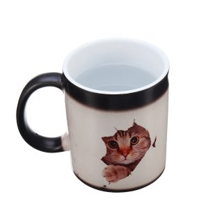 350ml Cat Lover Morphing Mug Heat Sensitive Color Changing Coffee Mugs Cup Gifts
