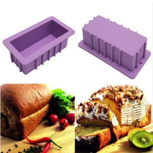 10 '' Silikonbröd limpa tårta mögel icke stick bakvaror bakning pan rektangel mögel