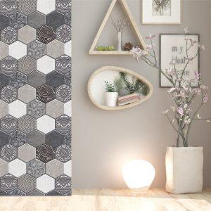 5/10Pcs Home Decor 3D Stone Wall Sticker Self-adhesive Wallpaper Decorations