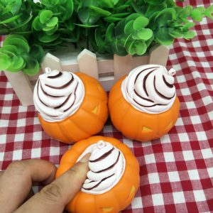 10cm Squeeze Relif Stress Stretch Squishy Pumpkin Ice Cream Slow Rising Kids Toy