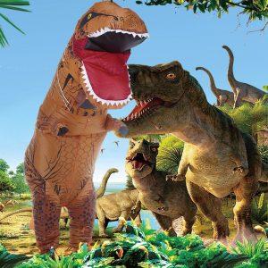Uppblåsbara leksaker Simulering Tyrannosaurus Rex Roliga skrämda Uppblåsbara kläder Dinosaurskläder