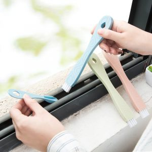 2 in 1 Window Groove Cleaning Brush Dustpan Set Keyboard Dead Angle Clean Tool