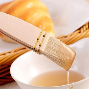 Baking BBQ Wool Brush Wooden Handle Cake Bread Barbecue Oil Butter Wool Brush Tools