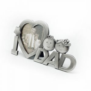 Jag älskar pappa fars dag hjärtaform Fotoplattform för stativram