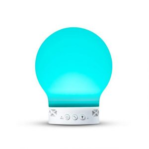 Loskii HC-111 Electronic Rechargeable Silica Gel bluetooth Speaker Radio Night Atmosphere Light Support TF Card
