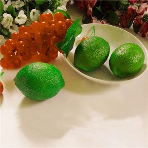 Artificial Lemon Simulation Lime Fake Fruit Imitation Learning Props Home Shop Decor