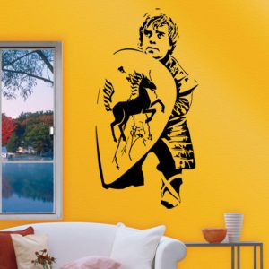 Game Of Thrones Zhuo Ge Carlo Khal Drogo Portrait Wall Stickers